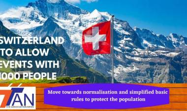 SWITZERLAND TO ALLOW EVENT WITH 1000 PEOPLE- Move towards normalisation and simplified basic rules to protect the population