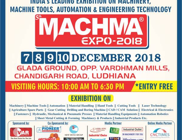 CICU signature event on Machinery, Machine tools, Automotive and Engineering is back from 7-10 December in Ludhiana