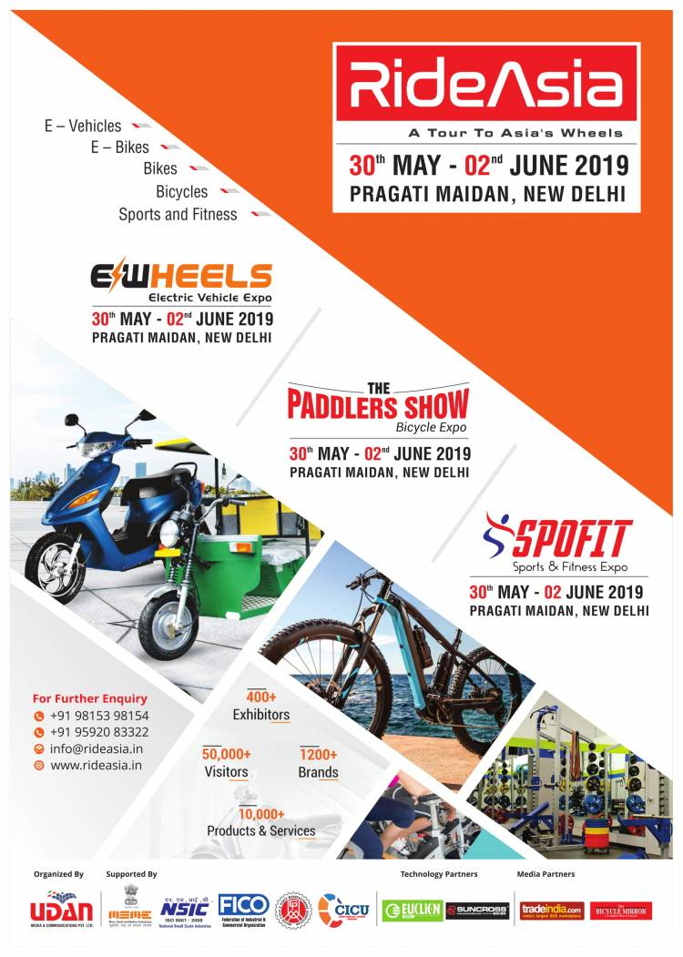 RIDE ASIA 2019 scheduled to be held in Delhi during 30th May to 02nd June