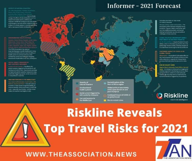 Top Travel Risks for 2021 - Reveals Riskline Study